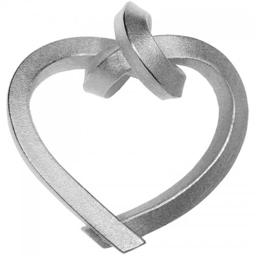 KNOTENSCHMUCK. Gebundenes Herz in Silber. Halsschmuck mit Bedeutung. Herz- das Symbol für die Verbundenheit zweier Menschen.