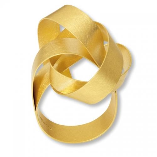 Niessing Cirrus, Ring in Gold 750, federhart geschmiedet...Blickfang