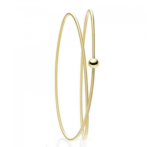 Niessing Colette Armschmuck. Ein zartes Band der Niessingschnur schmückt das Handgelenk. Gold 750, gelb.