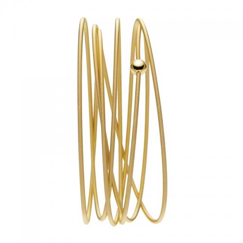 Niessing Colette Armband, Armreif in 18 karatigem Gelbgold. 6fach gewickelt. Locker, schlicht, besonders