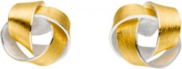 Dezente Knötchen im feinen Kontrast aus Silber und Gold.