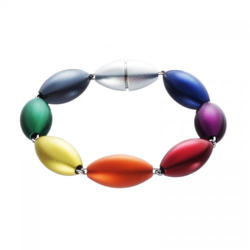 ... passend zum Halsschmuck, gibt es das farbenfrohe Armband-Oliven.