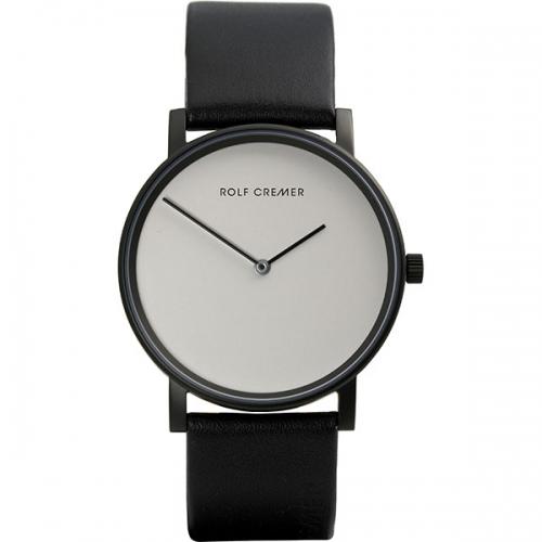 Rolf Cremer. Pur.Design in Uhren. Die Pur. Damen- und Herrenuhr in schlichtem Design, schwarz