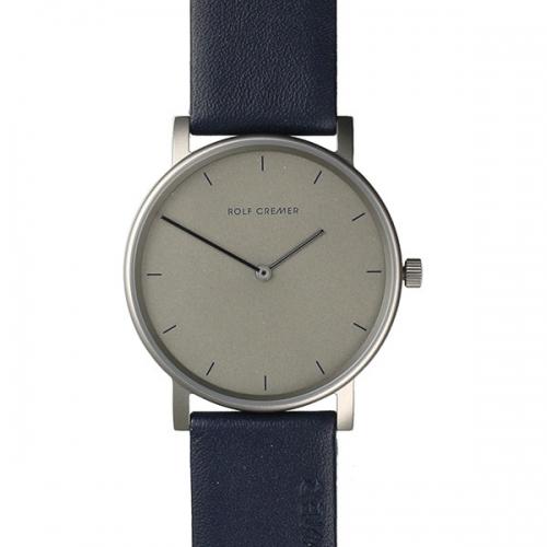 Schlichte Uhr in dunklem Blau- perfekt für jeden Anlass.