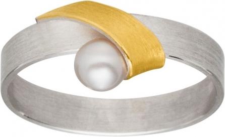 Stilvoller Ring besetzt mit einer Zuchtperle.