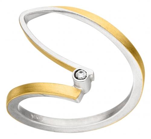 Filigraner Ring in 925 Silber von der Firma Manu.
