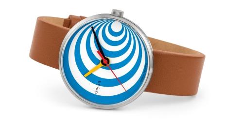 Walter Gropius Uhr mit Saphirglas, Miyotawerk und Echtlederband, 5 ATM Wasserdichte