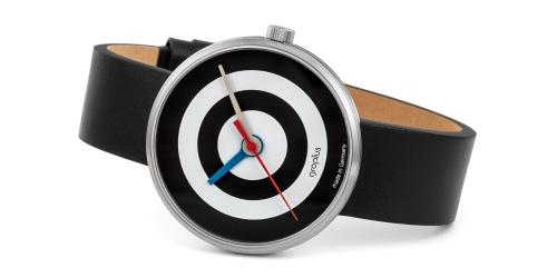 Walter Gropius Uhr mit Saphirglas,Echtlederband, Miyotawerkund 5ATM Wasserdichte
