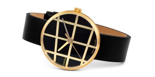 Walter Gropius Uhr mit Saphirglas, Echtlederband, Miyotawerk und 5 ATM Wasserdichte. Die Uhr ist eine limited Edition.